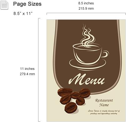 Menu Templates Features SmileTemplates – Free Cafe Menu Templates for Word