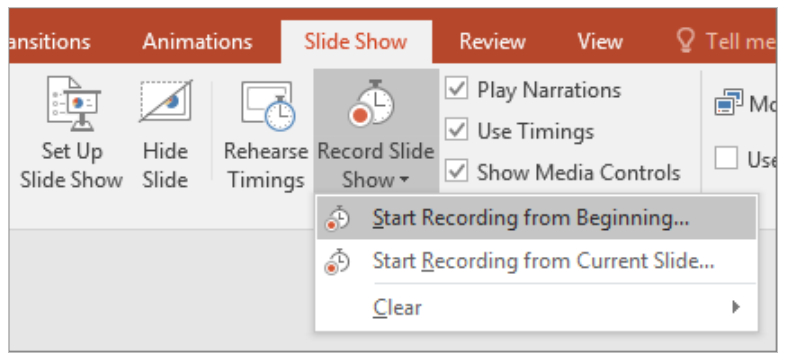 PowerPoint Presentations -  Recording Sounds And Narrations